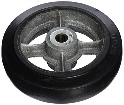 "Wesco 150596 10"" Diameter Cast Iron Center Moldon Rubber Wheel, 800-lb. Capacity, 2-1/2"" Tread Width, 1"" Bore, 2-3/4"" Hub Diameter from Wesco"