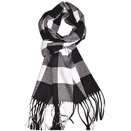 "Women's/Men's Soft Cashmere-Like Wrap Plaid Scarf (72""X12"") from SethRoberts"