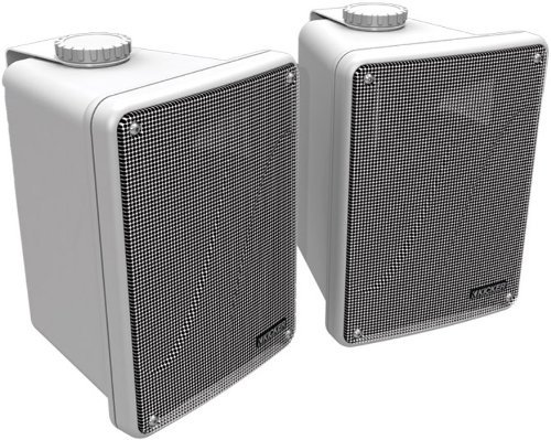 Kicker KB6000 2-Way Full-Range Indoor Outdoor Marine Speakers (Pair)