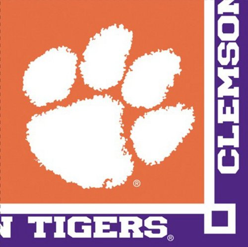 - Club Pack of 240 NCAA Clemson Tigers 2-Ply Tailgating Party Beverage Napkins