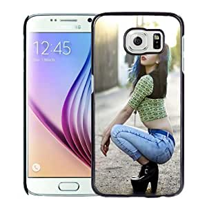 New Personalized Custom Designed For Samsung Galaxy S6 Phone Case For Blue Hair Woman Phone Case Cover