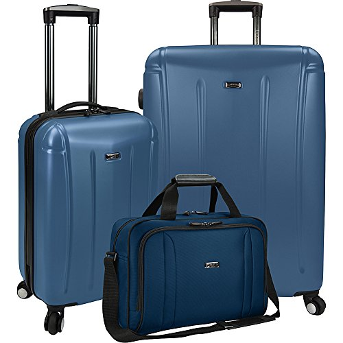 U.S. Traveler 3-Piece Spinner and Boarding Bag Luggage Set (Blue) by U.S. Traveler