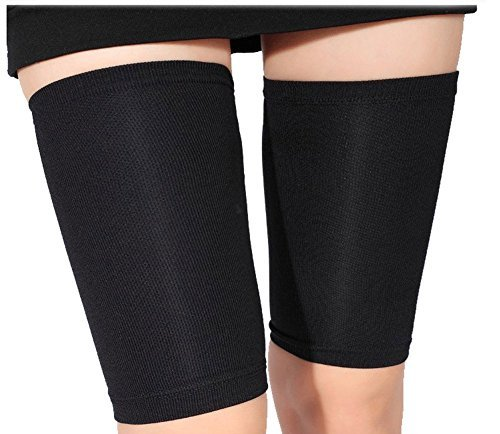 HugeStore Women Ultra-thin Elastic Weight Loss Thigh Leg Massage Shaper Leg Wrap Belt Thigh Slimming Compression Socks (Slimming Massage Belt)