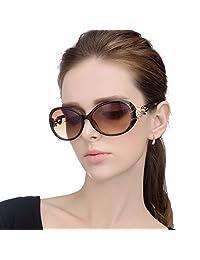 LIANSAN Womens Ladies Oversized Sunglasses Eyeglasses UV Prrotection GD103 brown