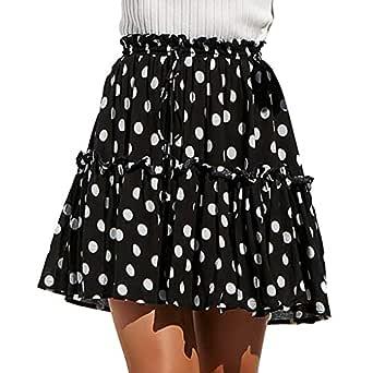 Covermason Minifalda Moda Mujer Casual Polca Punto Impresión ...