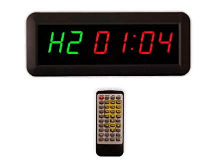 Hot programmable led interval timer big stopwatch home gym