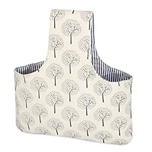 Teamoy Knitting Tote Bag, Travel Canvas Project Wrist Bag for knitting Needles(up to 14 Inches), Yarn and Crochet Supplies, Lightweight, Multipurpose, Perfect Size for Knitting on The Go--Large, Tree
