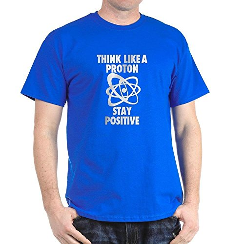 CafePress - Think Like A Proton Stay Positive T-Shirt - 100% Cotton T-Shirt, Crew Neck, Soft and Comfortable Classic Tee with Unique Design (Think Positive T Shirt compare prices)