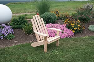 Outdoor Kennebunkport Adirondack Chair - STAINED- Amish Made USA -Natural