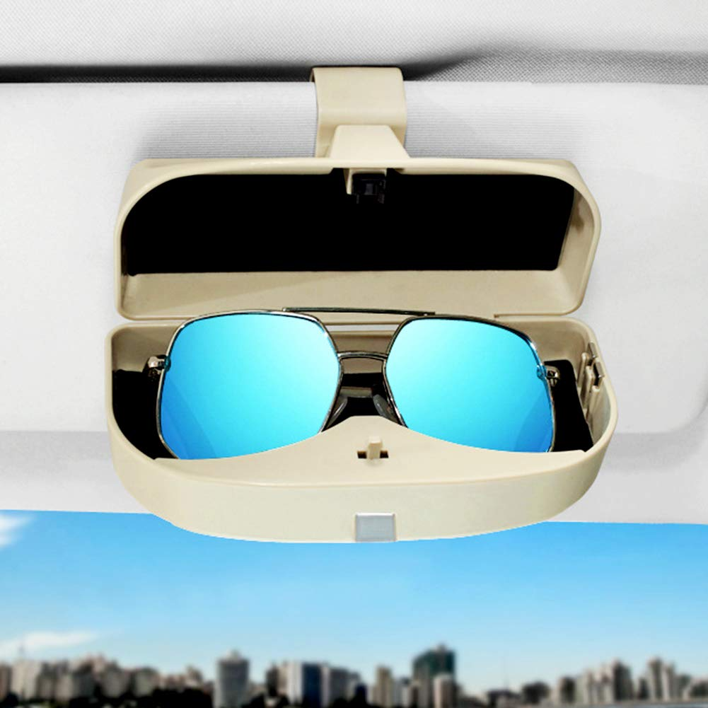 EisEyen Auto Sonnenblende Brille Sonnenbrille Box Der Erhalt der Clip Holder Brille Lagerung /& Car Card Holder
