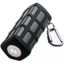 Outdoor Portable Wireless Bluetooth Speaker Waterproof with Power Bank, Built-in 7000mAh Rechargeable Battery, 20 Hours Playtime, Powerful Surround Hi-fi Sound with Enhanced Bass (Black)