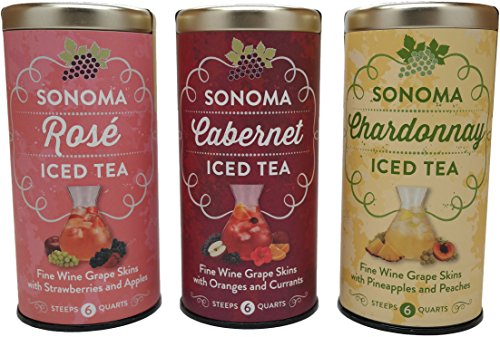 Sonoma Chardonnay, Cabernet & Rose Iced Tea Bundle (Variety Pack of 3)
