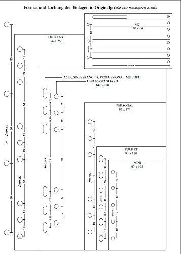 Filofax 254001 Recharge pour Organiseur adresse//t/él/éphone Blanc