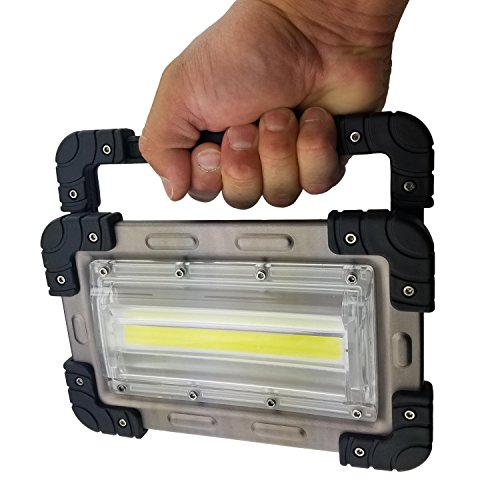 30 Watt Portable 2000 Lumen LED Work Light,Outdoor Flood Light, for Workshop,Construction Site, Building, Camping,Hiking,Car Repair, Rechargeable Battery Power Bank by Nighthawk (Image #4)