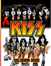 Kiss Coloring Book: Coloring Pages for Adults Fan Relaxation Gift