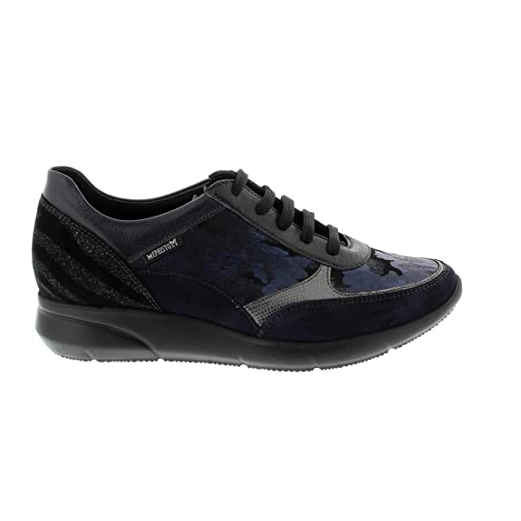 Mephisto Diane  Navy Ice Leather Womens Trainers Amazoncouk Shoes   Bags