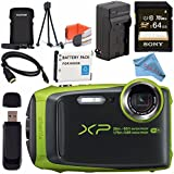 Fujifilm FinePix XP120 Digital Camera Bundle (64GB, Lime)