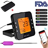 Digital Meat Thermometer with Carrying Case, APP Controlled Wireless Bluetooth Smart BBQ Thermometer