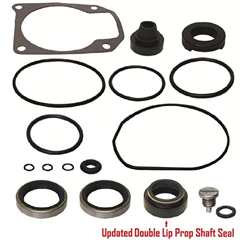 GLM Lower Unit Gearcase Seal Kit for Johnson Evinrude 25 40 48 50 Hp Replaces 18-2694 433550 Read Item Description for Applications