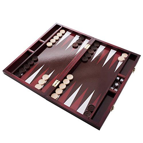 Backgammon Set by GrowUpSmart Classic 14