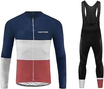 Uglyfrog Maillot Ciclismo Invierno Fleece MTB Hombres Jersey Pantalones Largos Mangas Largas de Ciclismo Ropa para Deportes al Aire Libre Ciclo Bicicleta MES01: Amazon.es: Deportes y aire libre