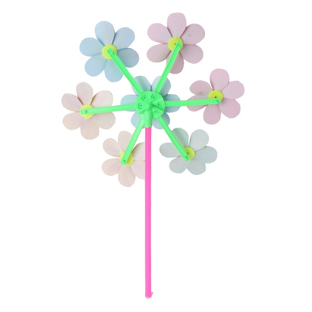Kofun Spinner De Viento Patr/ón De Flores Spinner Viento Molino De Viento Ni/ños Ni/ños Juguetes Jard/ín Patio Decoraci/ón 1 Pieza De Color Al Azar