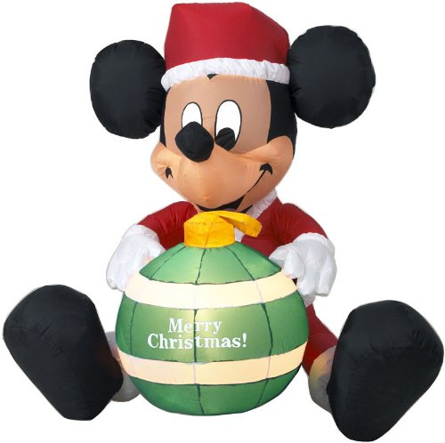 buy disney christmas mickey mouse ornament led airblown inflatable by gemmy online at low prices in india amazonin - Mickey Mouse Christmas Blow Up