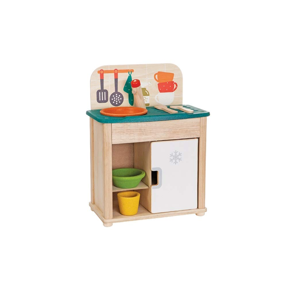 Lxrzls Wooden Play Food Set -Pretend Play Kitchen -Wooden Playing Playset