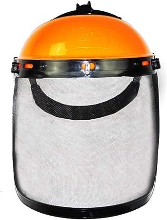 RJHH Máscara Protectora para Exteriores Registro de escardas Desbrozadoras de Cara Completa Cortadora Protectora Gorra Protectora Casco de Seguridad para jardín Casquillo