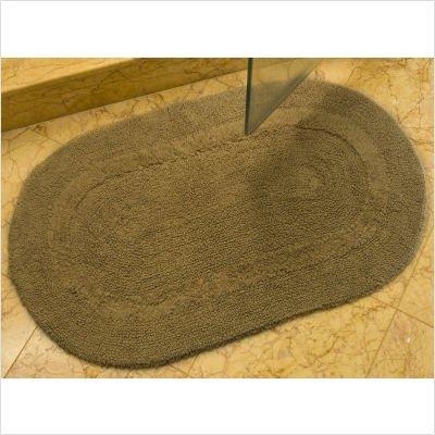 Safavieh Plush Master Bath Collection PMB454C Handmade Caramel Cotton Bath Mat, 2 feet 3 inches by 3 feet 9 inches (2'3