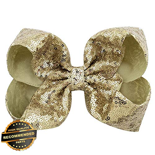 Gatton Premium New Girls 8 inch Big Large Bow Sequin Alligator Hair Clips Headwear Hair Accessories | Style HRCL-M182012640