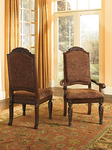 Signature Design by Ashley D553-02 North Shore Dining Chairs, Dark Brown