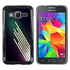Be Good Phone Accessory // Dura Cáscara cubierta Protectora Caso Carcasa Funda de Protección para Samsung Galaxy Core Prime SM-G360 // Neon Light Bright Dark