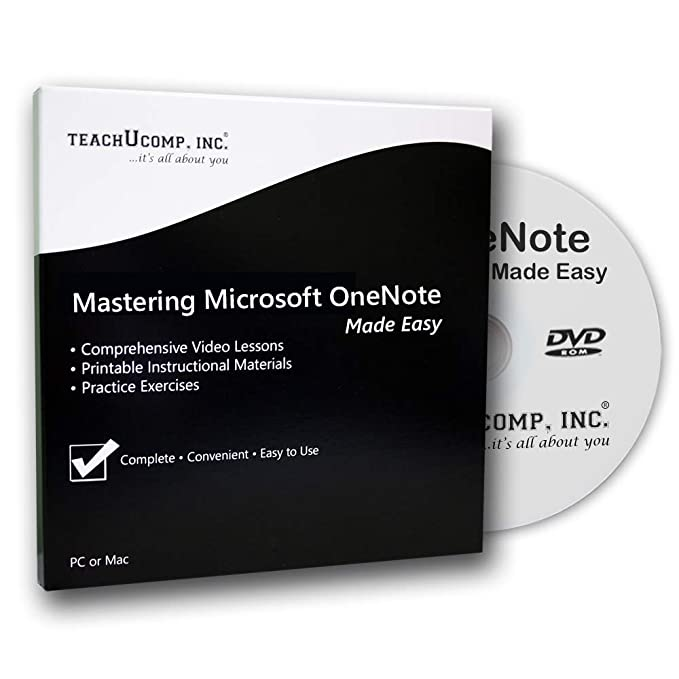 Learn Microsoft OneNote (One Note) 2013 Made Easy Training Tutorial DVD-ROM  Course