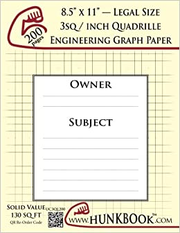 engineering graph paper 200pages cream 3sq inch 1 3 quadrille