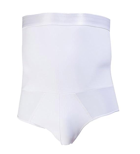 Aieoe Calzoncillos Adelgazantes Cintura Alta con Faja Reductora de Abdomen Plano Slimming Shapewear para Hombre -