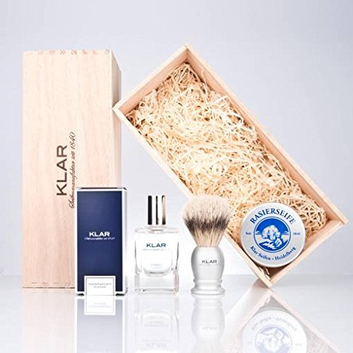 Klar's Shaving Set 3 pieces (brush, aftershave, soap) by Kaliandee