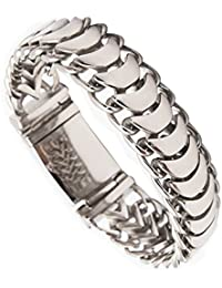 Men's Bracelet BlueFox Keel Titanium steel High polished Link bracelet pack 1,8.6''