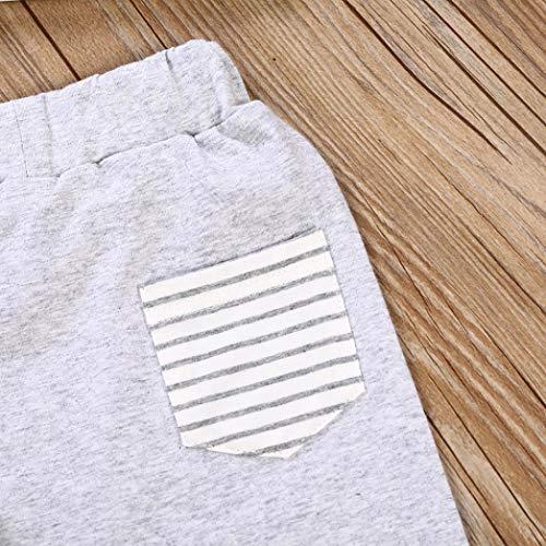 Mode 0 Chauds Oreille Mois 2 24 Pantalon Gris Adeshop Bébé Fille shirt Rayé 3d Ensemble Tops Lapin T Vêtement À Capuche Confortable Vêtements Garçon De Pièces Mignon B4qE00xgw