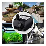 80GPH 300L/H Submersible Water Pump Powerhead Fountain Fish Aquarium Hydroponic