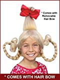 Blonde Christmas Girl Costume Wig with Wire Braids