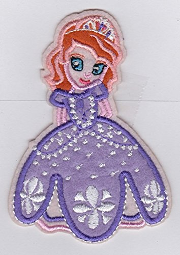 PRINCESS SOFIA - Fabric Iron on Patches/Sew On/Applique/Embroidered W3.5