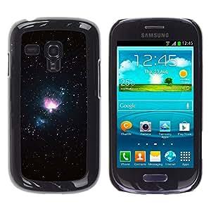 La Llama Sagrada - Metal de aluminio y de plástico duro Caja del teléfono - Negro - Samsung Galaxy S3 MINI i8190 (NOT S3)