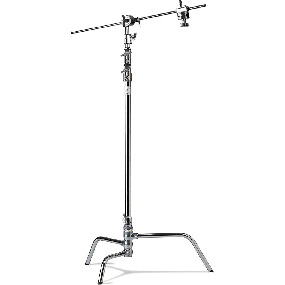 Selens 10.5ft Height Photography C Stand Video Studio Film Photography Stand Kit with 2pcs Grip Head and Extension Arm by Selens