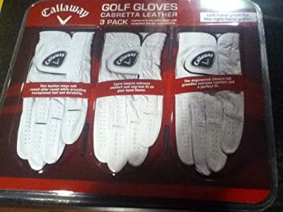 Callaway Cabretta Leather 3 PK Golf Gloves