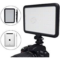 Mcoplus 0.6/1.5cm Ultra Thin 204-LED 10W 5600K/3200K LED Video Light Dimmable Flat Panel On-camera Light Pad for Canon Nikon Sony Pentax Olympus Samsung Panasonic JVC DSLR Cameras DV Camcorders