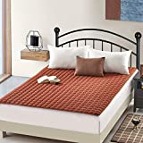 YQ WHJB Non-Slip Tatami Mattress,Foldable Mattress Pads,Solid Color Hotel Thin Soft Breathable Four Seasons Washable Sleeping pad-Brown 150x200cm(59x79inch)