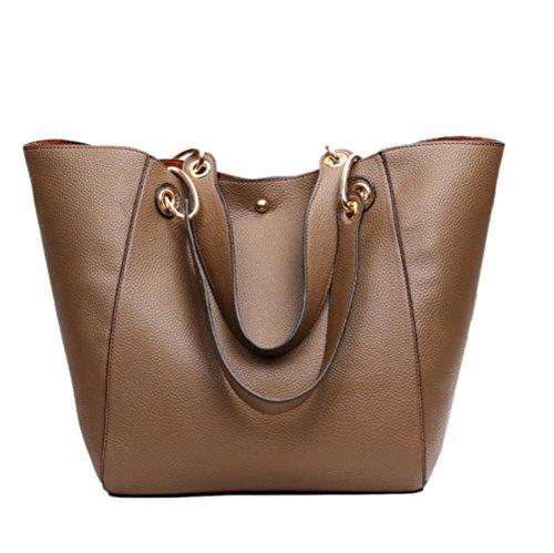 Shopping Tote Bags Bags Women's Bags Travel Vintage Bags Bags Women's Shoulder Women's Bags Variety Multifunctional PU Brown Bags Capacity Fashion Outdoor Large Casual Bags w1qEBECx6