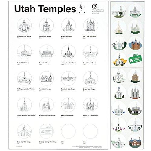 (Utah Temple Road Trip Tracker)