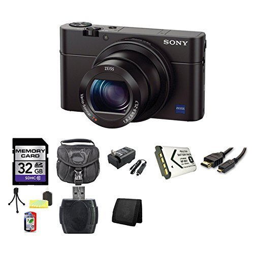 Sony Cyber-Shot DSC-RX100M III Digital Camera DSCRX100M3 RX100 (International Model) 32GB Bundle